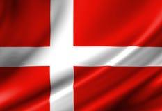Данський флаг Стоковые Изображения RF