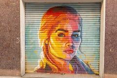 Дань к актрисе Emilia Кларку в персонаже Daenery стоковое фото