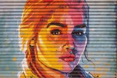 Дань к актрисе Emilia Кларку в персонаже Daenery стоковые фотографии rf