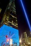 Дань 11-ое сентября в свете - Нью-Йорке Стоковые Фото