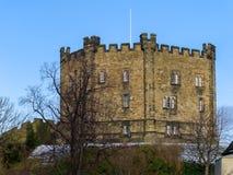 ДАРЕМ, ГРАФСТВО DURHAM/UK - 19-ОЕ ЯНВАРЯ: Взгляд замка в Du Стоковое Изображение RF