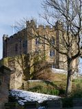 ДАРЕМ, ГРАФСТВО DURHAM/UK - 19-ОЕ ЯНВАРЯ: Взгляд замка в Du Стоковые Фотографии RF