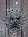 ДАРЕМ, ГРАФСТВО DURHAM/UK - 19-ОЕ ЯНВАРЯ: Старый Knocker двери на Стоковая Фотография RF