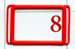 Дата календара Стоковые Изображения