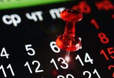 Дата календаря 13 Стоковые Изображения RF