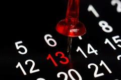 Дата календаря 13 Стоковое Фото