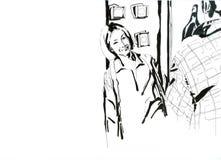Дата может быть черно-бела Иллюстрация вектора