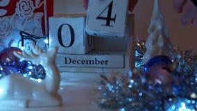 Дата 4-ое декабря преграждает календарь пришествия сток-видео