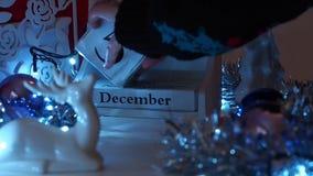 Дата 16-ое декабря преграждает календарь пришествия сток-видео