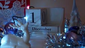 Дата 14-ое декабря преграждает календарь пришествия сток-видео