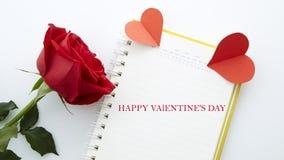 Дата 14-ое февраля Стоковое Фото
