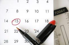 Дата 15 сегодня Стоковое Изображение RF
