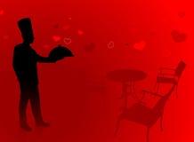 дата шеф-повара предпосылки романтичная иллюстрация штока