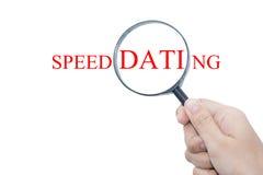 Датировка скорости стоковое изображение