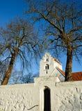 Датская деревенская церковь Стоковое Фото