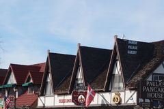 Датская деревня Solvang Калифорнии Стоковое фото RF