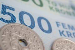 датские деньги Стоковые Фотографии RF