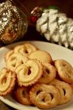 Датские печенья масла на праздники Стоковые Фото