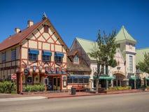 Датский городок Solvang в Калифорнии Стоковое Фото