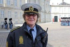 Датский женщина-полицейский Стоковое Фото