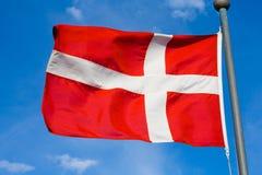 датский флаг Стоковая Фотография