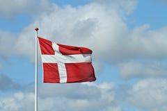 датский флаг Стоковая Фотография RF