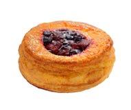 Датское печенье при плодоовощи изолированные на белой предпосылке стоковые фотографии rf