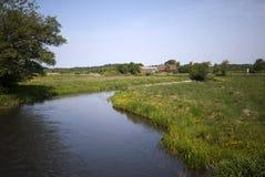 датское река ландшафта Стоковые Фото