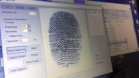 Датчик в реальном времени отпечатка пальцев видеоматериал