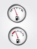Датчик газа приборной панели бесплатная иллюстрация