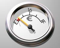 датчик евро иллюстрация вектора
