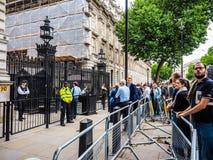 Даунинг-стрит в Лондоне, hdr Стоковое Изображение