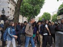 Даунинг-стрит в Лондоне Стоковое Изображение RF