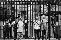 Даунинг-стрит Лондон - офис премьер-министра - ЛОНДОН - ВЕЛИКОБРИТАНИЯ - 19-ое сентября 2016 Стоковое Изображение RF