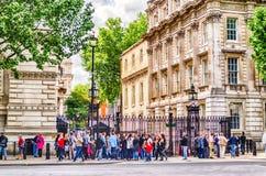 Даунинг-стрит, Лондон, Великобритания Стоковое фото RF