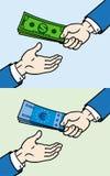 дающ деньгам руки другое к Иллюстрация штока