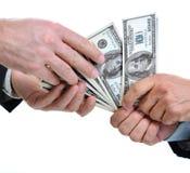 Дающ и принимающ доллар Стоковое Изображение RF