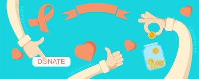 Дающ призрениям рук онлайн фонд Стоковая Фотография