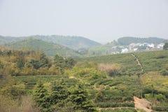 Далеко см. деревню Huanglongxian стоковая фотография rf