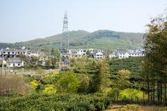 Далеко см. деревню Huanglongxian стоковые фотографии rf