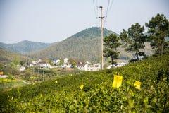Далеко см. деревню Huanglongxian стоковое изображение rf