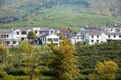 Далеко см. деревню Huanglongxian стоковые изображения