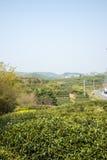 Далеко см. деревню Huanglongxian стоковая фотография