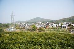 Далеко см. деревню Huanglongxian стоковое фото rf