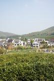 Далеко см. деревню Huanglongxian стоковое изображение