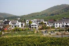 Далеко см. деревню Huanglongxian стоковое фото