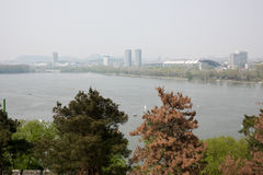 Далеко см. озеро Xuanwu стоковые фотографии rf