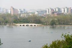 Далеко см. озеро Xuanwu стоковое фото rf