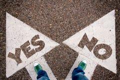 Да или нет dilem Стоковые Изображения