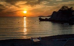 Далматинский заход солнца Стоковая Фотография RF